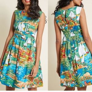Modcloth Emily and Fin Sailboat dress